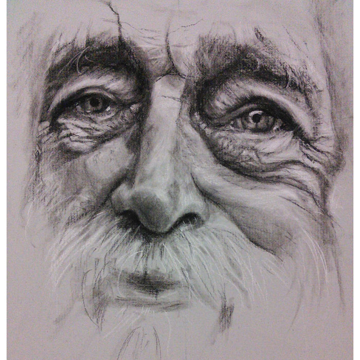 Portrait Artist - Complete - Portrait in Charcoal