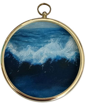 Miniature Seascape Painting - In The Deep