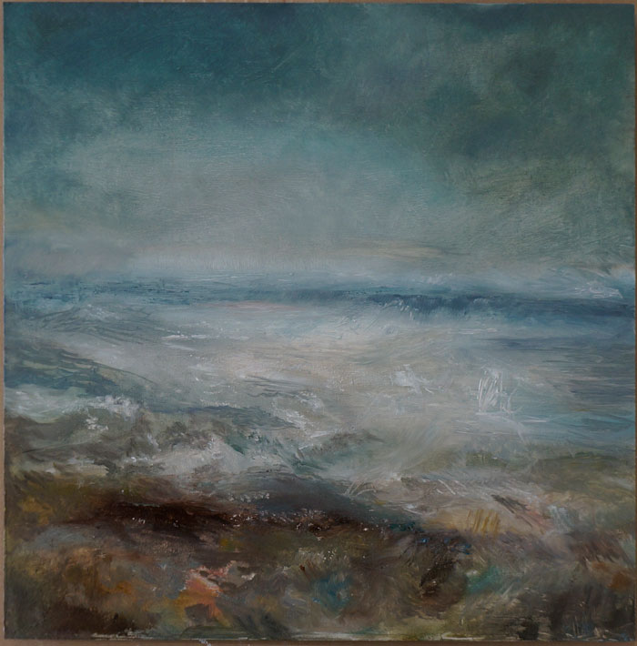 Morecambe Bay Oil Painting