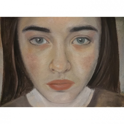 Portrait painting on Arches Oil Paper - Not Holly