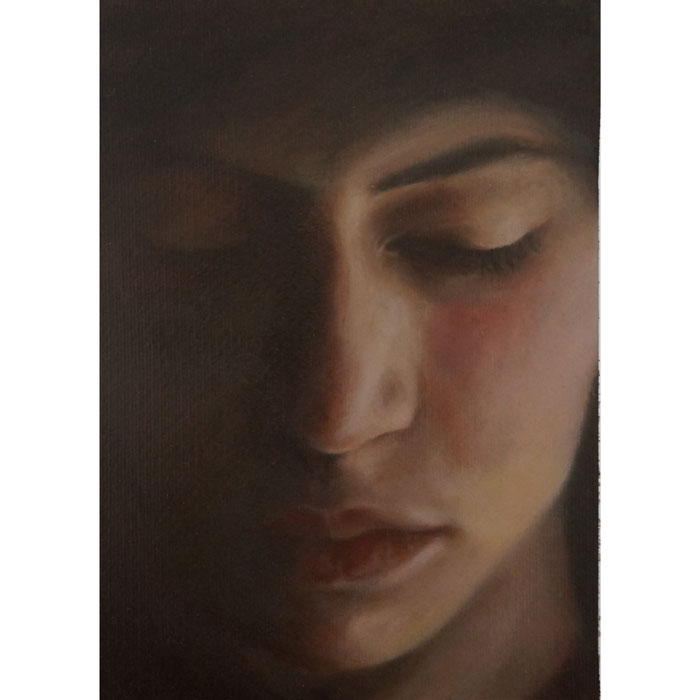 Portrait Painting - Sheltered in Thought