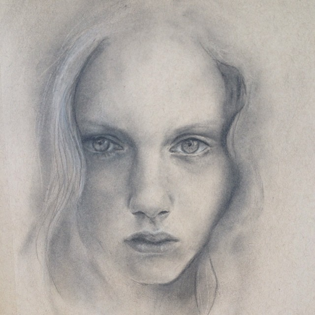 Willow  - Charcoal Portrait Drawing
