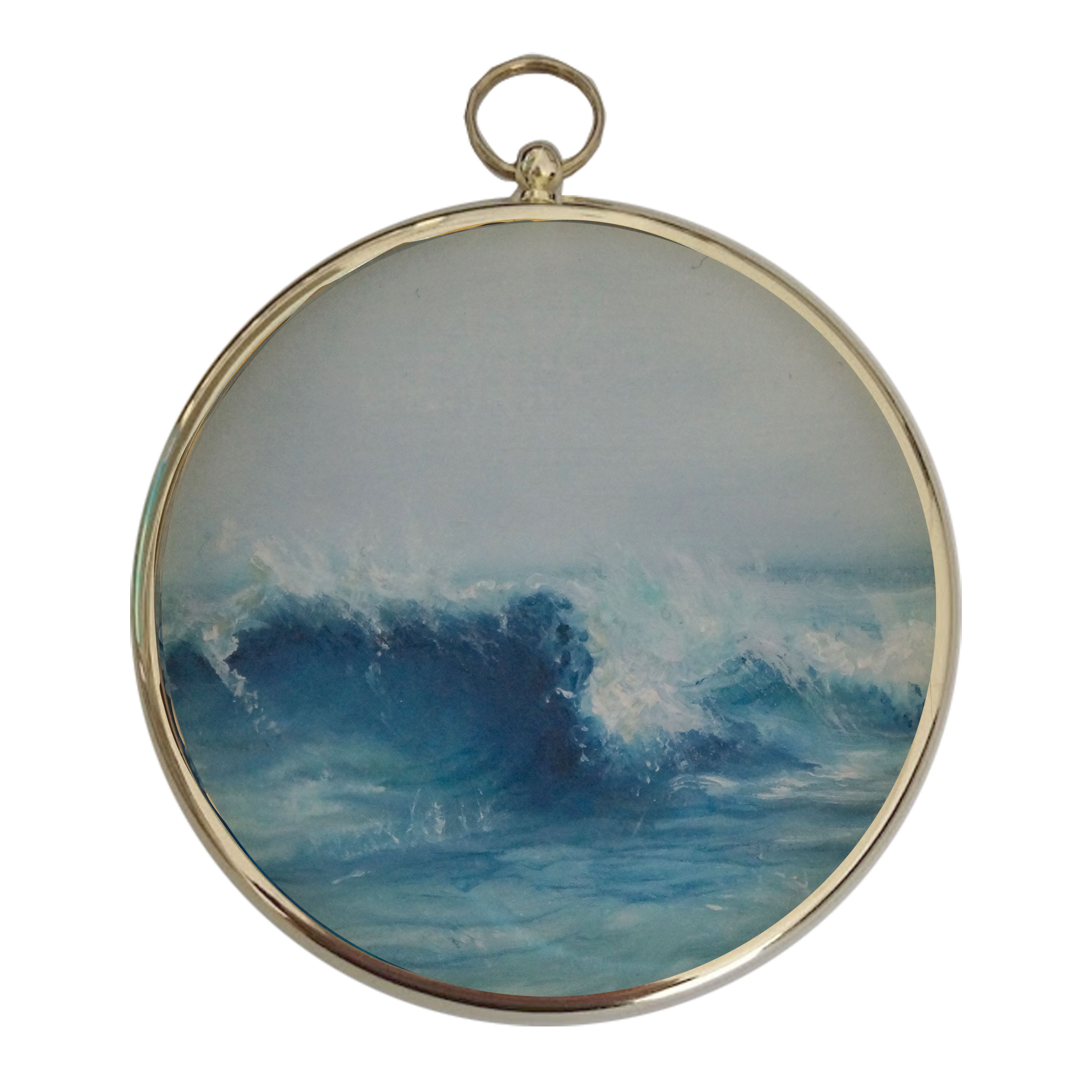 Breaking Wave - Miniature Seascape Painting