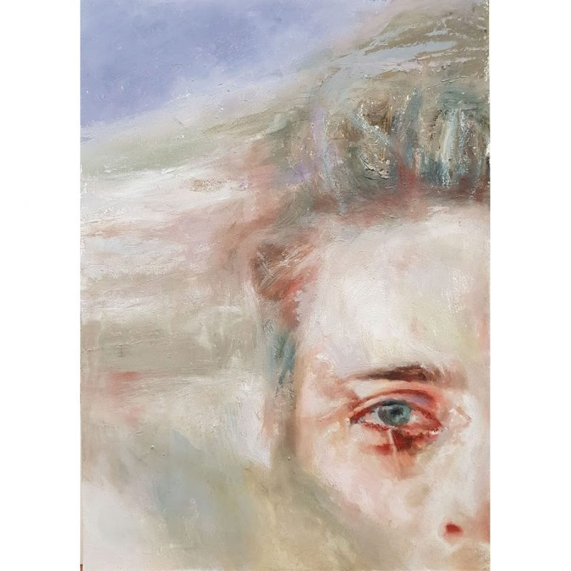 Abstract Portrait Painting - Heath by Artist Donna Readman