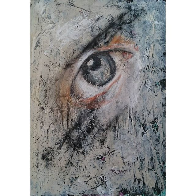 Abstract Portrait Painting - Eye Erode