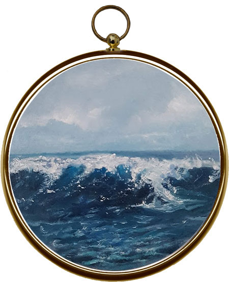 Miniature Seascape Painting - In The Deep XI
