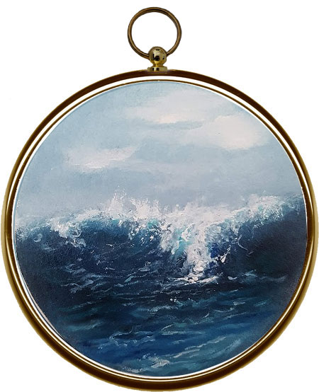 Miniature Seascape Painting - In The Deep XII