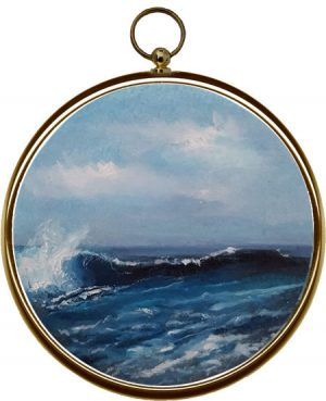 Miniature Seascape Painting Oceans Deep