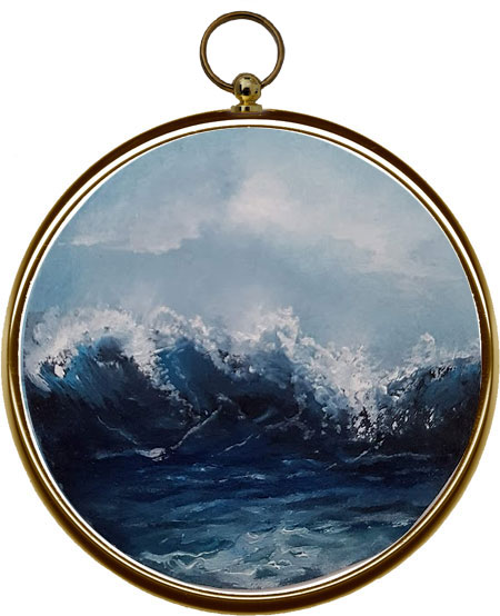 miniature seascape painting - Oceans Glory