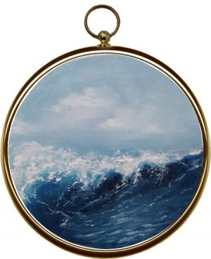 Miniature Seascape Painting Oceans Thrill