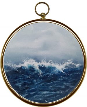Miniature Seascape Painting - Rolling-Waves