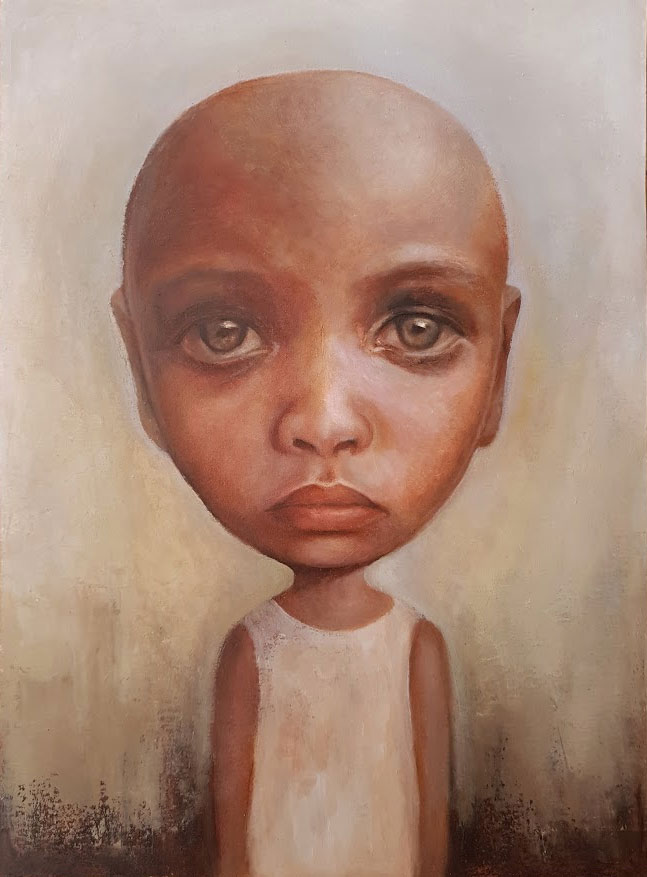 The Things I have Seen - Oil Portrait Painting - Art of The Lost