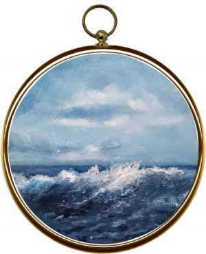 Miniature Seascape Painting Wistful Waves