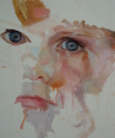 Abstract Portrait Painting - Work in Progress