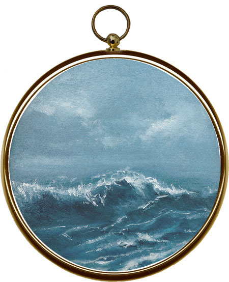 Miniature Seascape Painting Oceans Fold