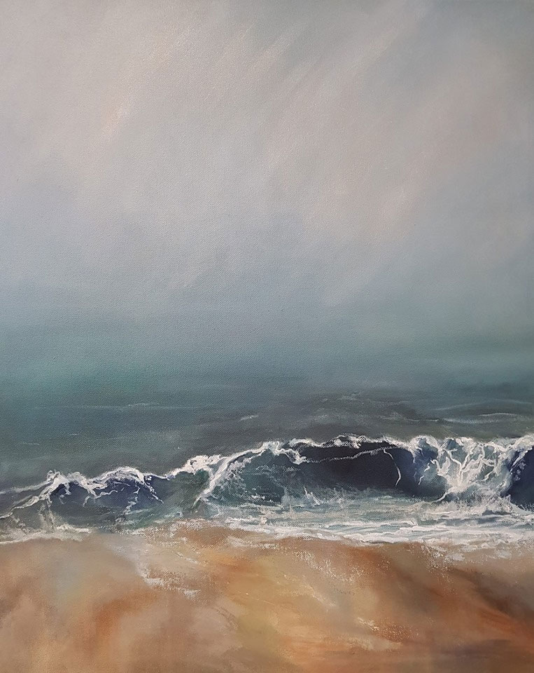 Seascape Painting - Shoreside