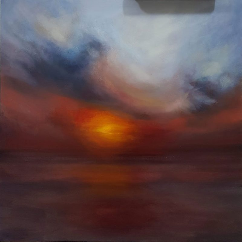 Sunset Oil Painting - Morecambe Bay