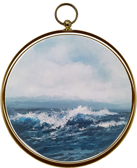 Miniature Seascape Painting Tumble, Twist