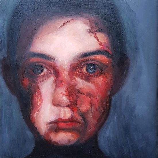 Portrait Painting - We All Have Scars
