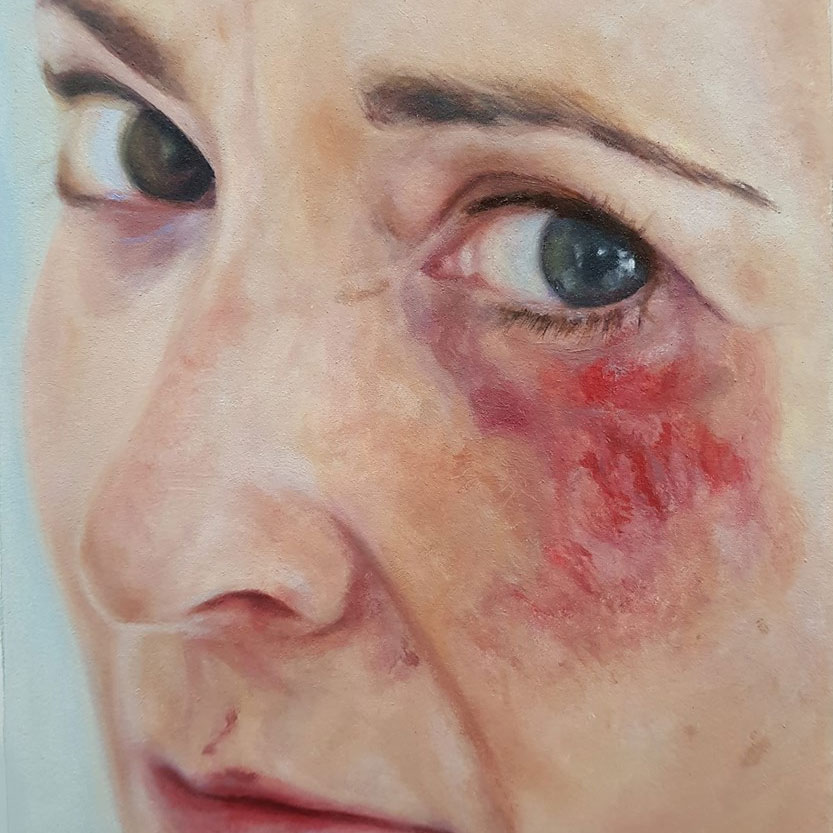 Self Portrait Painting - We All Fall Down