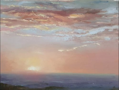 Sunset painting - Morecambe bay